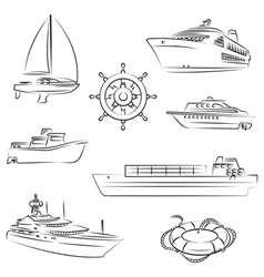 boats and ships vector image vector image