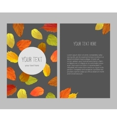 Bright autumnal banner vector image vector image