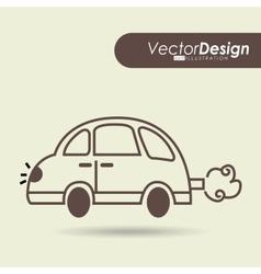 car drawn design vector image