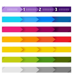 Colorful Tabs vector image vector image