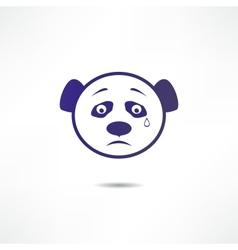 Crying panda vector image