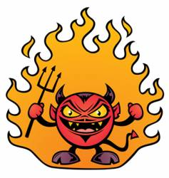 fat devil character vector image vector image