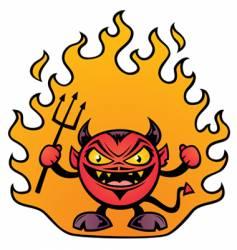 Fat devil character vector