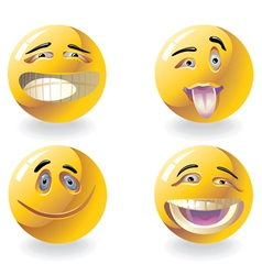 four emoticons vector image vector image