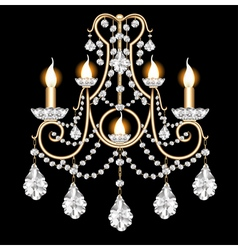 included sconces with crystal pendants vector image