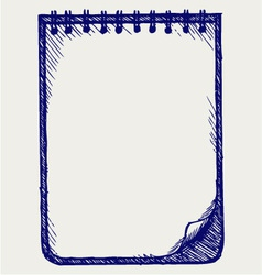 Paper with notebook vector image