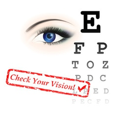 vision test vector image
