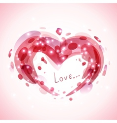 Abstract romantic background vector image vector image