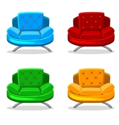 armchair soft colorful homemade set 6 vector image vector image