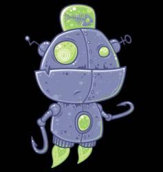 fishing robot character vector image