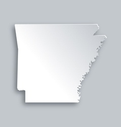 Map of Arkansas vector image vector image