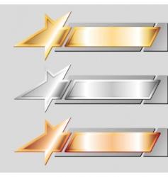 Metal emblems vector