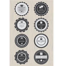 Retro badges set vector image