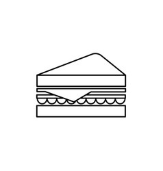 sandwich line icon sign on vector image vector image