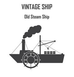 steam boat ship icon vector image