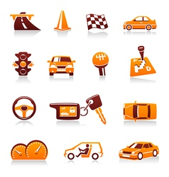 automotive icons vector image