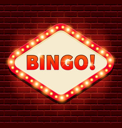 bingo casino lotto billboard background vector image vector image