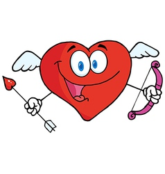 Heart Cupid With A Bow And Arrow vector image