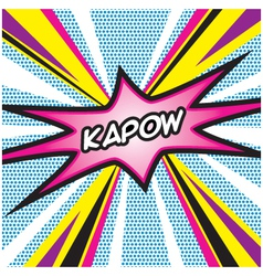 KAPOW Pop Art vector image