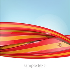 ribbon spain flag on background vector image vector image