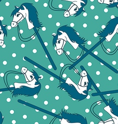 Seamless pattern of toy horses vector image