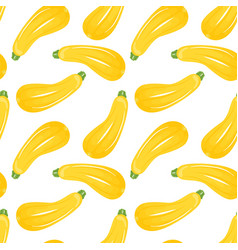 zucchini seamless pattern isolated on white vector image vector image