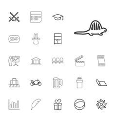 22 black icons vector