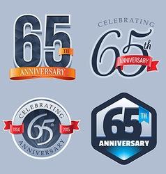 65 Years Anniversary Logo vector image vector image