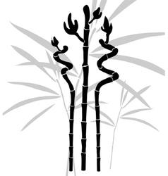 Abstract bamboo vector