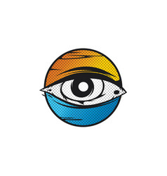 All seeing eye god vector