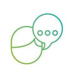 avatar speech bubble talking dialog message vector image