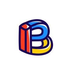 B letter impossible shape logo vector