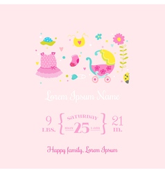 Baby Arrival Card - for design and scrapbook vector image