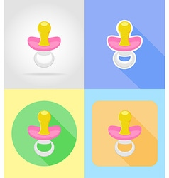 Baby flat icons 06 vector