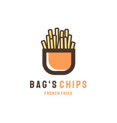 Bags chips logo designs modern concept vector