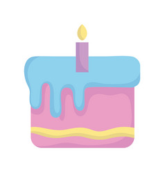 Bashower sweet cake with candle announce vector