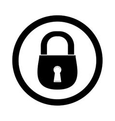 Black lock icon image design vector