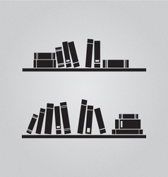 Books on the shaves vector