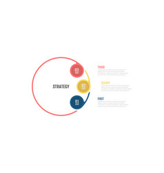 business infographic strategy design with 3 option vector image