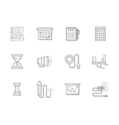 Business strategy thin line icons set vector image