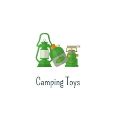 Camping toys flat icon Toys isolated color vector