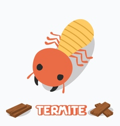 Cartoon of termite vector