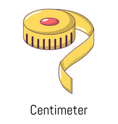 centimeter icon cartoon style vector image