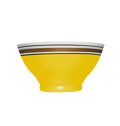 ceramic bowl in on white background vector image
