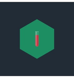 chemical test tubes flat icon vector image