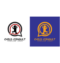 Children logo can for use kids consultant icon vector
