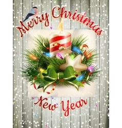 Christmas greeting card EPS 10 vector image