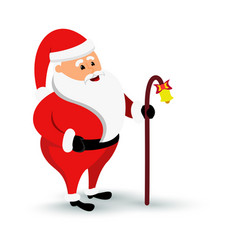 Christmas smiling santa claus character is coming vector