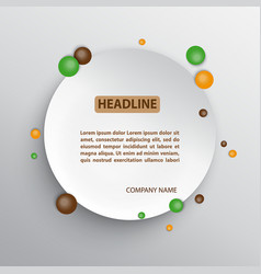 circle infographic background vector image