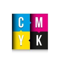 CMYK print concept lettering vector